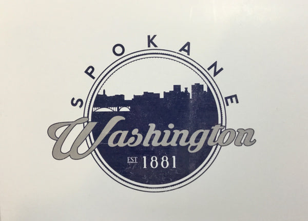 Card - Spokane Washington Skyline Seal - 5x7