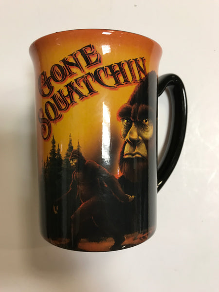 Gone Squatchin' 18oz Black Slim Mug