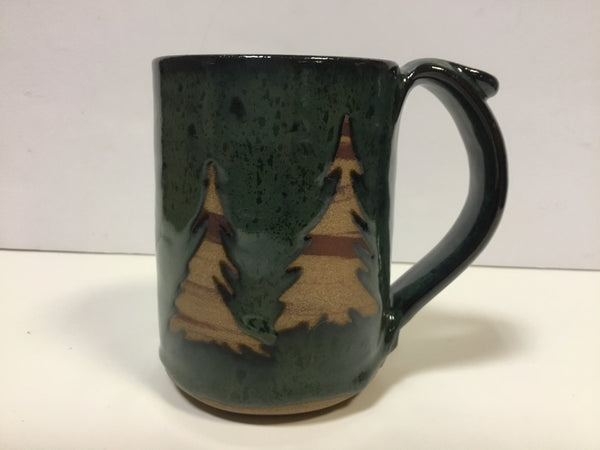 Mug - Two Trees On Green - 16 oz Clay