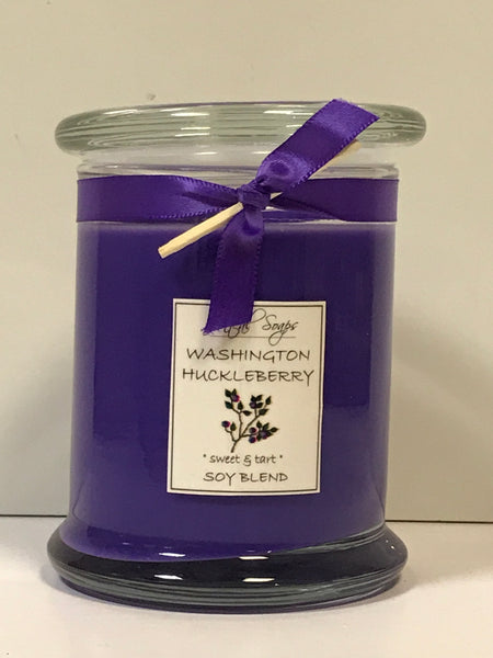 Candle - Washington Huckleberry - Round Glass Jar 16 oz