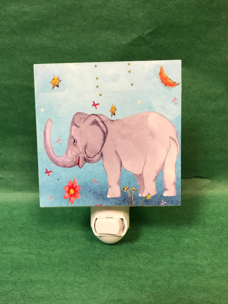 Colorful Animal Nightlight - Elephant
