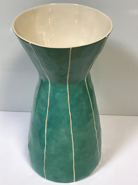 Ceramic Vase - Green Large Wide Neck