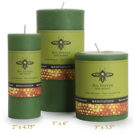 Candle -  Aromatherapy Meditation - Pillar 2
