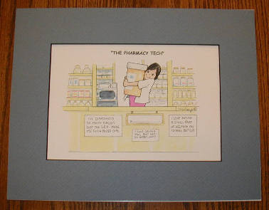 Female Pharmacy Cartoon Wall Hanging #2