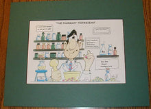 Male Pharmacy  Cartoon Wall Hanging #1