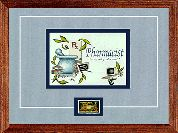 "Pharmacist - ""Trustworthy and Accurate"" with Pharmacy Postage Stamp"