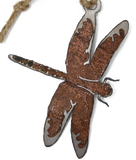 Rusted Dragonfly Ornament