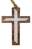 Rusted Modern Cross Ornament