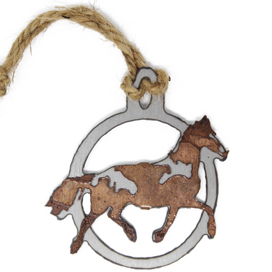 Rusted Horse Ornament
