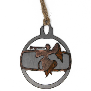 Rusted Angel Ornament