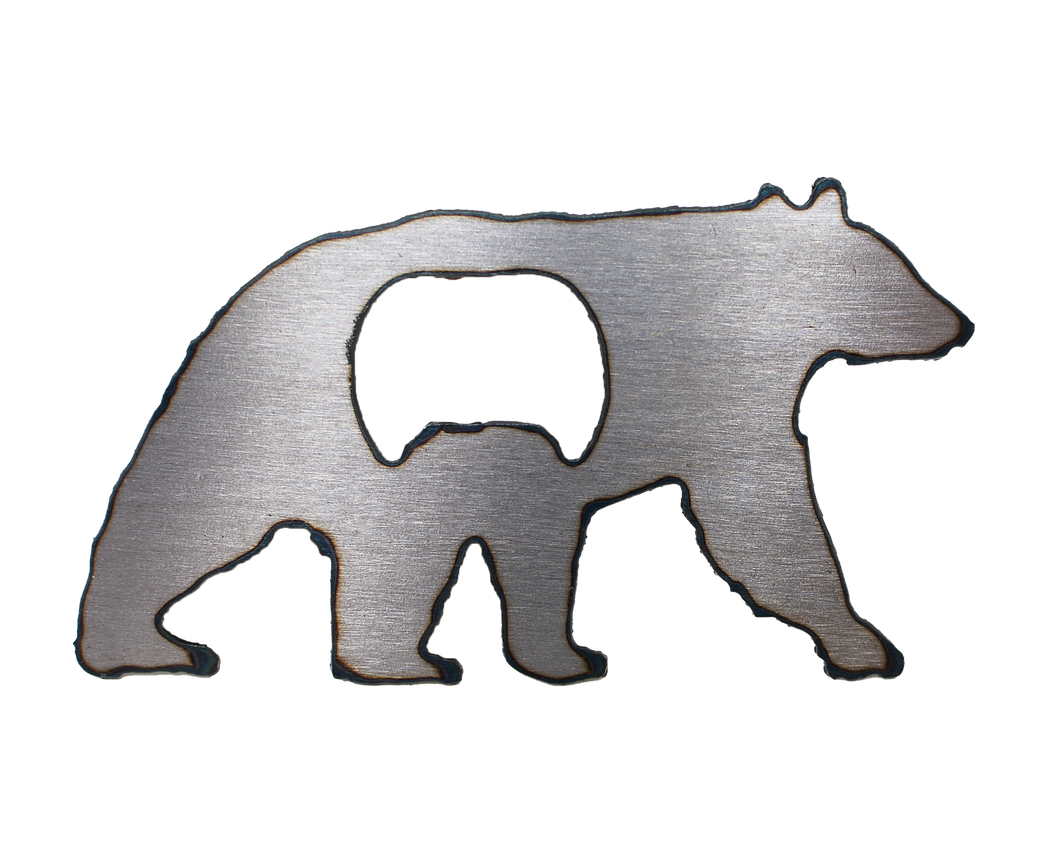 Black Bear Magnet Bottle Opener