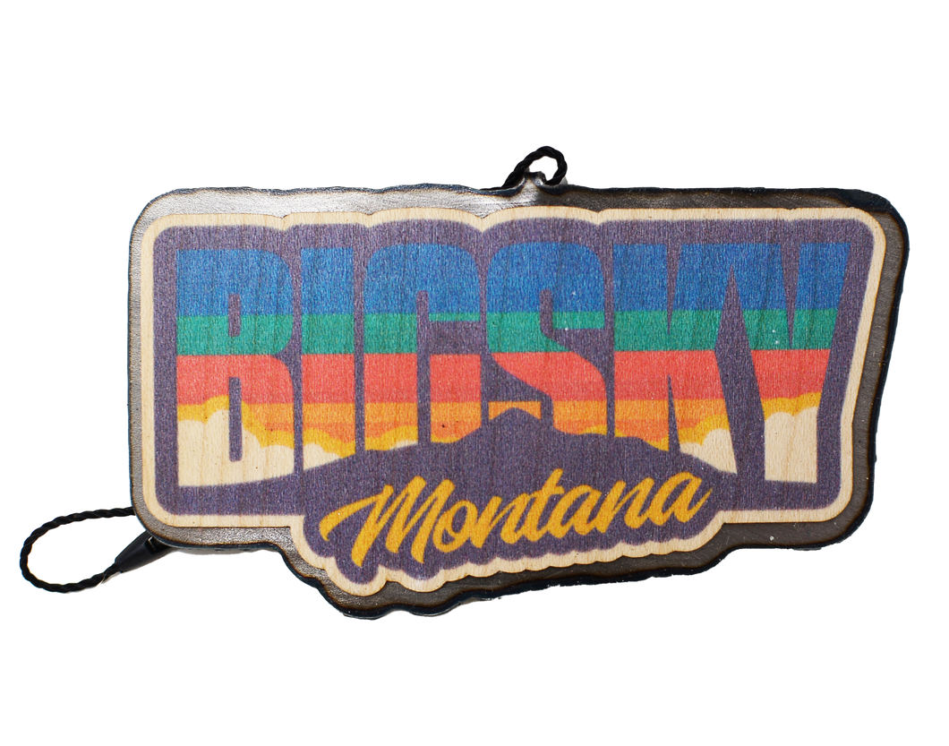 Color Big Sky Montana Text Badge