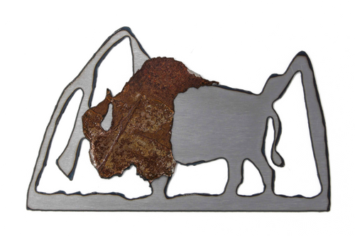 Rusted Buffalo Magnet