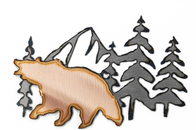 Grizzly In Mountains Magnet