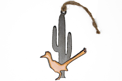 Road Runner with Saguaro