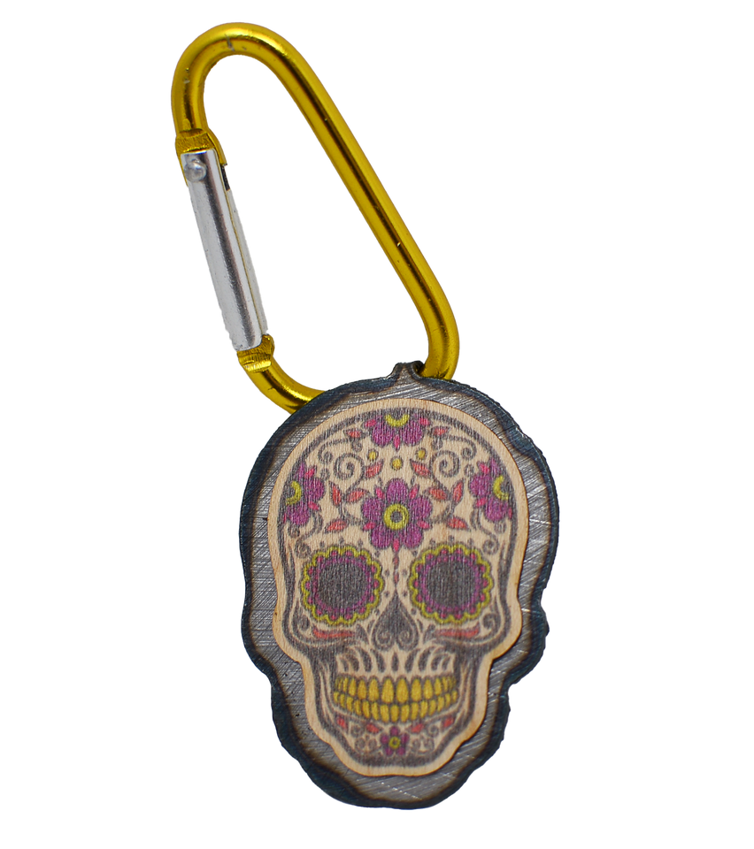 Color Mini Sugar Skull - Flower