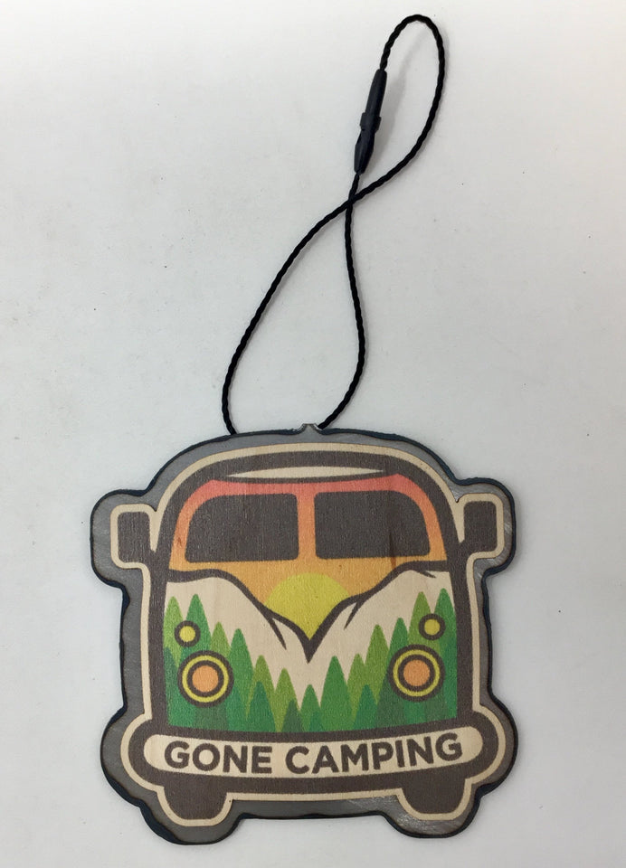 Color Gone Camping Van W/ Mountain Scene