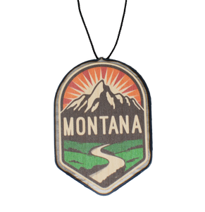 Color Hiking Mountain Winding Trail Badge (namedrop)