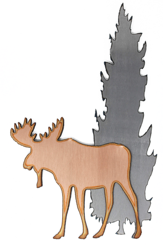Moose Beneath Trees Magnet
