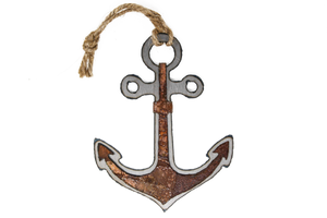 Rusted Anchor Ornament