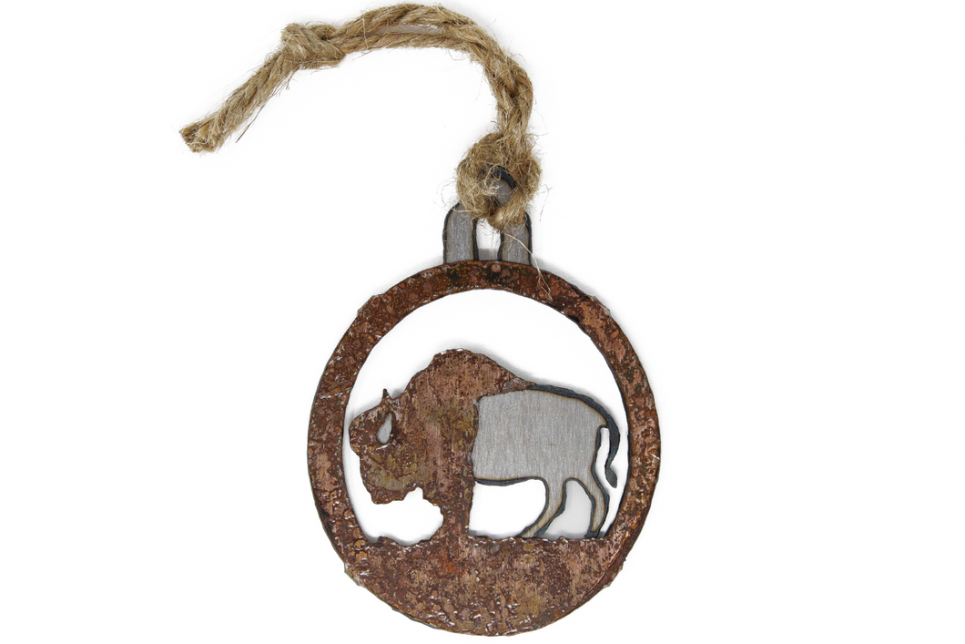 Rusted Buffalo Ornament