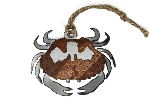 Rusted Crab Ornament