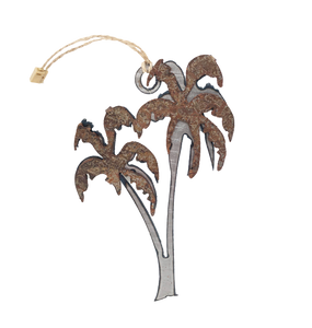Rusted Palm Trees Ornament