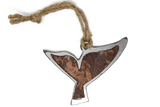 Rusted Whale Tail Ornament