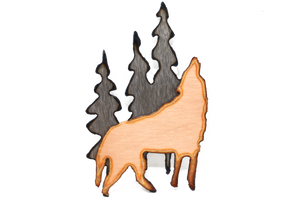Wolf in Forest Magnet