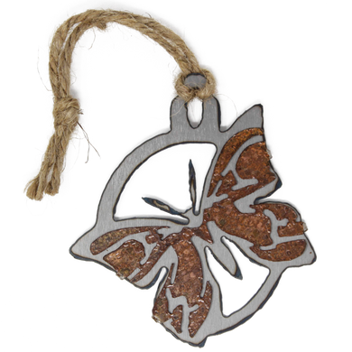 Rusted Butterfly Ornament