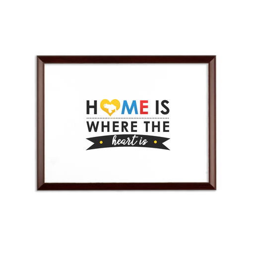 (Home is Where the Heart is) Placa de Pared - Good Vibes Venezuela