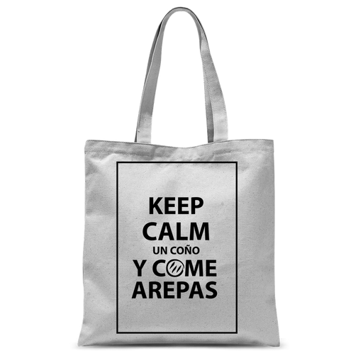 (Keep Calm y Come Arepas) Bolso de Mano Sublimano - Good Vibes Venezuela