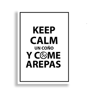 Stickers (Keep Calm y Come Arepas)