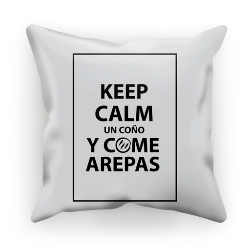 (Keep Calm y Come Arepas) Funda de Cojín - Good Vibes Venezuela