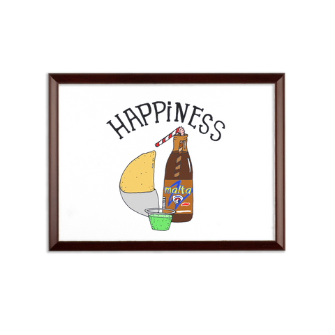 (Happiness Empanada) Placa de Pared - Good Vibes Venezuela