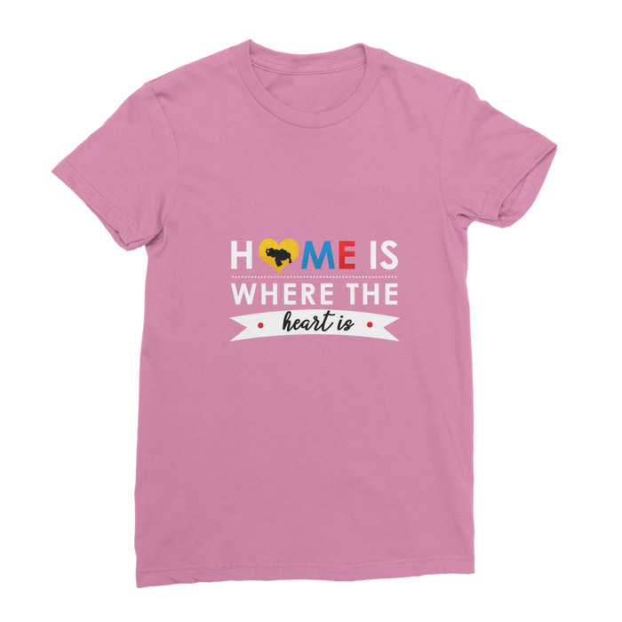 (Home is Where the Heart is) Franela Clásica de Mujer - Good Vibes Venezuela