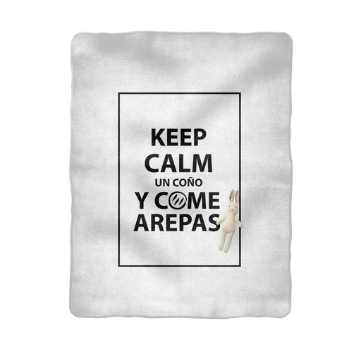 (Keep Calm y Come Arepas) Manta de Bebé - Good Vibes Venezuela
