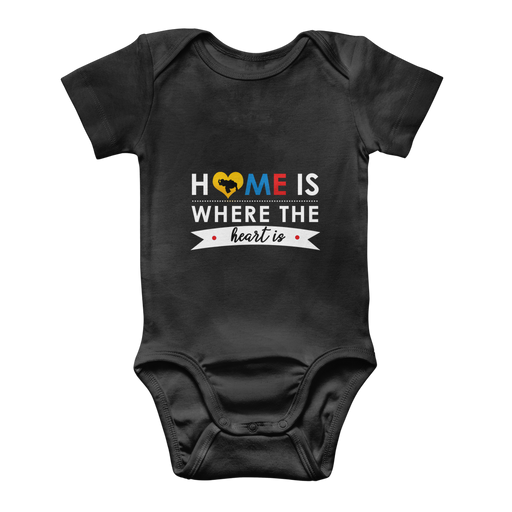 (Home is Where the Heart is) Body Baby Onesie Clásico - Good Vibes Venezuela