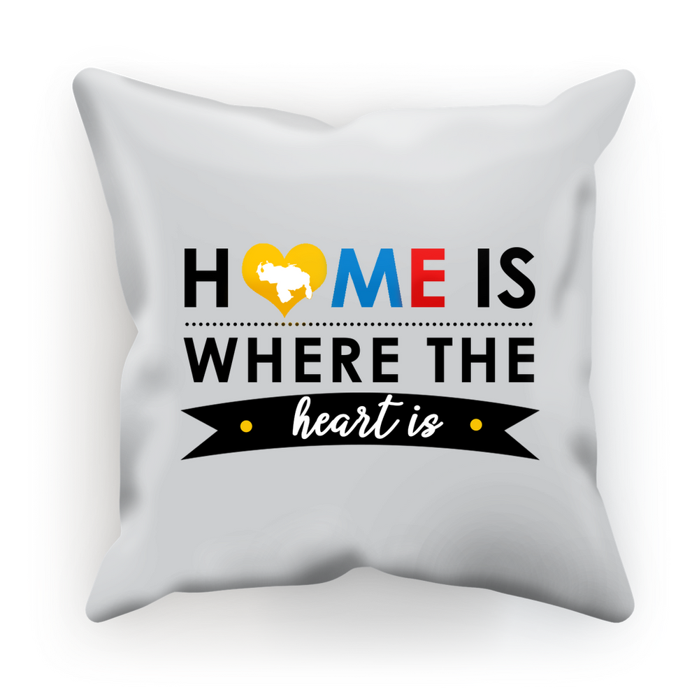 (Home is Where the Heart is) Funda de Cojín - Good Vibes Venezuela