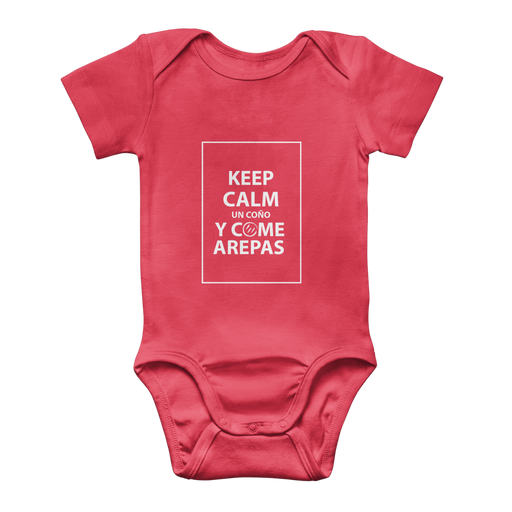 (Keep Calm y Come Arepas) Body Baby Onesie Clásico - Good Vibes Venezuela