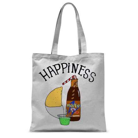 (Happiness Empanada) Bolso de Mano Sublimano - Good Vibes Venezuela