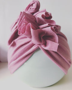Dusty Pink Merino Turban