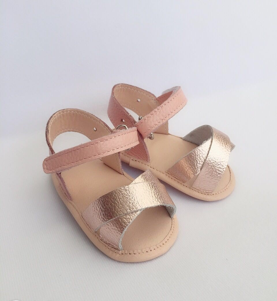 Harlow Sandal - Blush Gold