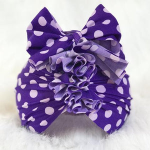 Swim Turban - Purple Dots