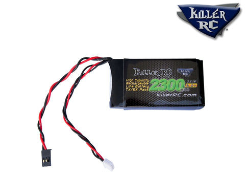 6.6v 2300mAh LiFePO4 TX/RX Battery - Killer RC