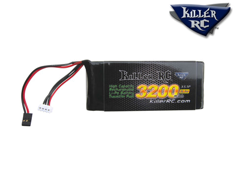 3200mAh 11.1v TX LiPo Battery - Killer RC