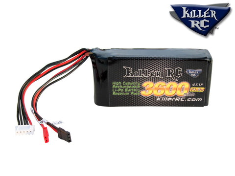 3600mAh 14.8v RX LiPo Battery
