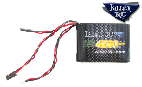 4200mAh 7.4v RX LiPo Battery - Killer RC