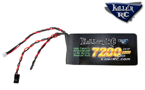 7200mAh 7.4v RX Lipo Battery - Killer RC
