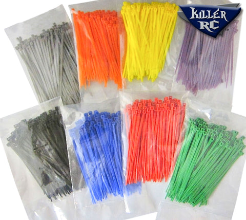 Cable Tie Kit / Zip Ties (100 pack) - Killer RC
